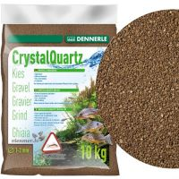 Dennerle CRYSTAL QUARTZ GRAVEL dark brown 10kg